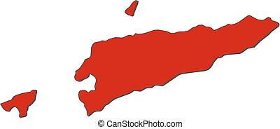 Asia With Highlighted East Timor Map Vector Illustration Vector - East timor seetimor leste map vector