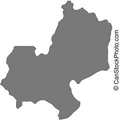 Map - Edo (Nigeria) - Map of Edo, a province of Nigeria.