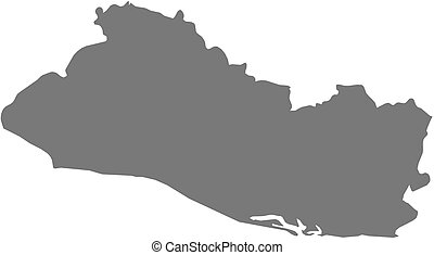 People group shape map el salvador large and creative group map el salvador gumiabroncs Image collections