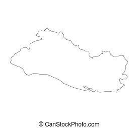 map el salvador
