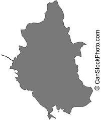Map - Epirus (Greece)