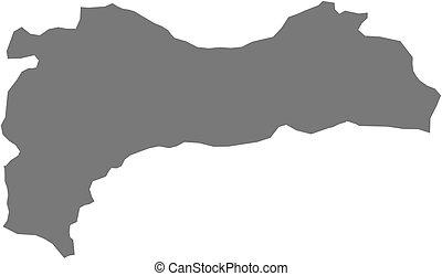 Map - Erzincan (Turkey)