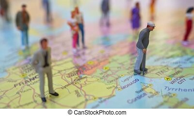 map., europe, beaucoup, figures, placé, gens