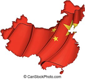map-flag, chinees