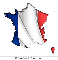 map-flag, franse