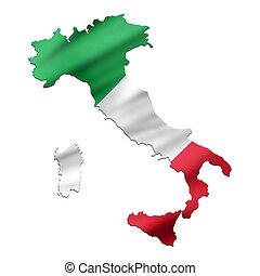 map-flag, italien