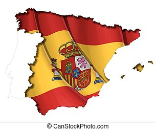 map-flag, spaanse