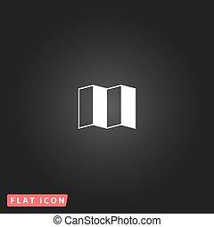 Map flat icon