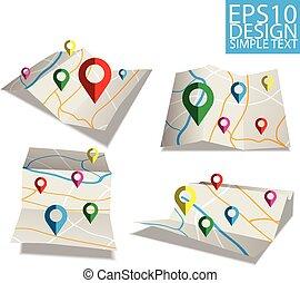 map  Flat style design