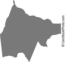 Map - Gash-Barka (Eritrea) - Map of Gash-Barka, a province...