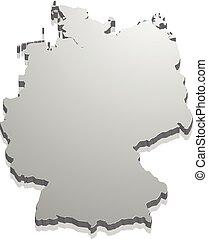 Map Germany blank