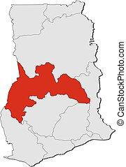 Map - Ghana, Brong-Ahafo