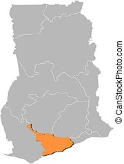 Map - Ghana, Central