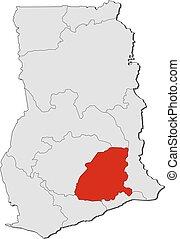 Map - Ghana, Eastern