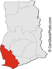 Map - Ghana, Western