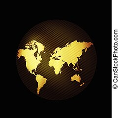 Map globe connected business web logo template