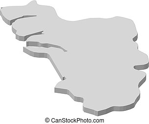 Map - Goa (India) - 3D-Illustration