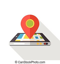 Map GPS flat icon
