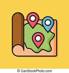 map GPS vector icon
