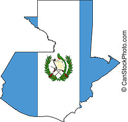 Map Guatemala - Map and Flag from Guatemala