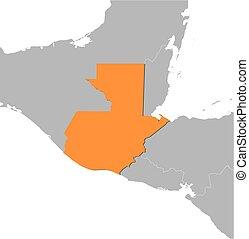 Map - Guatemala