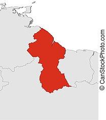 Map - Guyana