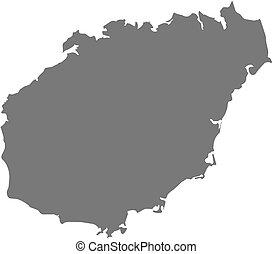 Map - Hainan (China) - Map of Hainan, a province of China.