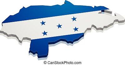 Map Honduras