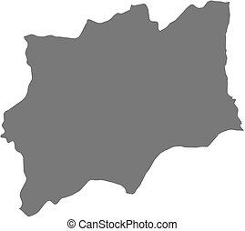 Map - Huila (Angola)
