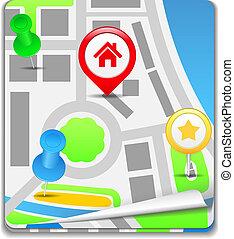 Map Icon, vector eps10 illustration