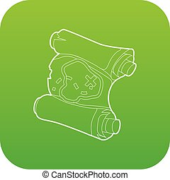 Map icon green vector