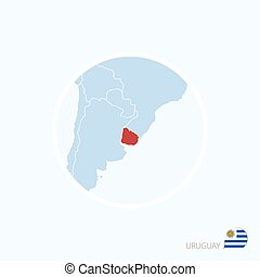 Map icon of mexico blue map of north america with eps vectors