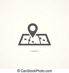 Map icon on white