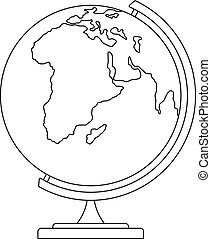 Map icon, outline style.