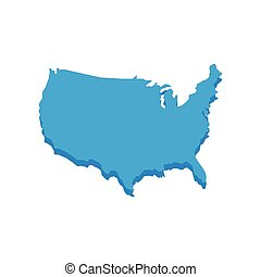 Map icon. USA design. Vector graphic