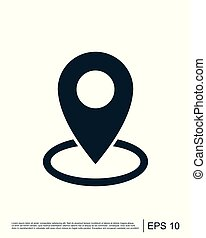 Map icon vector logo template