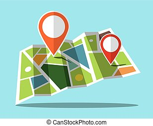 Map Icon with Markers