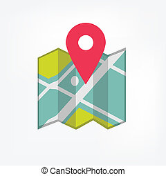 Map icon with pointer