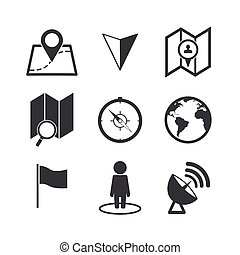 Map Icons set.