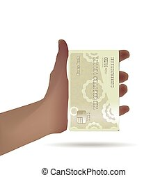 Map in hand banking realistic detailed