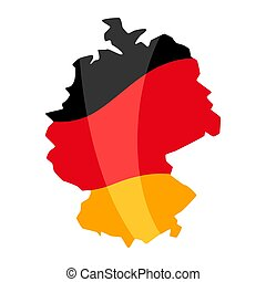 Map in the colors of the German flag.