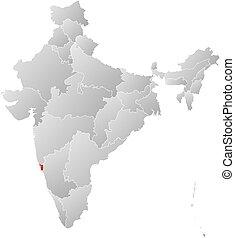 Map - India, Goa