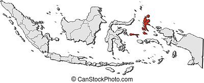 Map - Indonesia, North Maluku