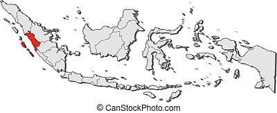 Map - Indonesia, West Sumatra - Map of Indonesia with the ...