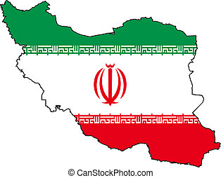 Map and Flag from Iran