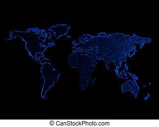 map isolated on black background