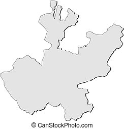 Map - Jalisco (Mexico) - Map of Jalisco, a province of...