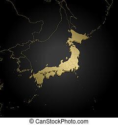 Map - Japan - 3D-Illustration