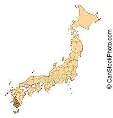 Map - Japan, Kagoshima