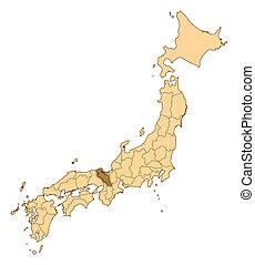 Map - Japan, Kyoto